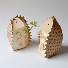 Paper Hedgehog Gift Box