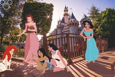 I love this so much! Jasmine, Belle, Mulan, Pocahontas and Ariel