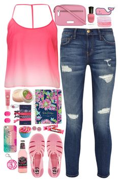 """""""Betty"""" by shazellove ❤ liked on Polyvore featuring Current/Elliott, JuJu, Lancôme, The Body Shop, Lilly Pulitzer, Vera Bradley, Accessorize, Marc by Marc Jacobs, Deborah Lippmann and Dylan's Candy Bar"""