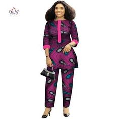 2019 spring African Suit For Women Print Wa Plus Sizx 2 Piece of Top and Pant Sets Fashion Women In African Clothing African Clothing For Men, African Dresses For Women, African Wear, African Women, African Clothes, African Dashiki, African Skirt, Costume Africain, Maxi Skirts For Women