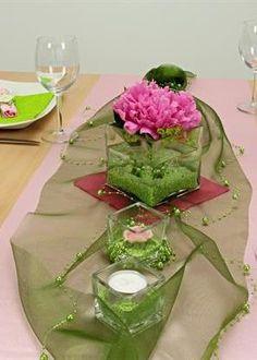 Tischdeko gr n und creme f r deine n chste feier die for Tischdeko selbst gestalten