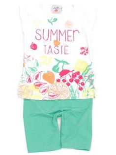 Wir geben die Hoffnung auf warme Sommertage nicht auf, hier kommt unsere #KombiDerWoche mit T-Shirt und Radler von #Topolino in Gr. 104 für Mädchen.