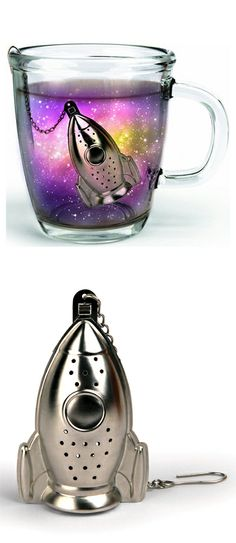 Make your tea an inter-galactic* experience with this rocket tea infuser! *Results may vary.