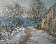Effet de neige à Limetz (C Monet - W 1056),1886.