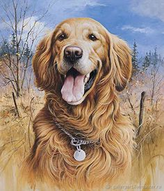 """"""" Golden Retriever Painting by Jim Killen Dog Paintings, Original Paintings, Golden Retriever Kunst, Sports Art, Watercolor Animals, Wildlife Art, Dog Portraits, Dog Art, Dogs And Puppies"""