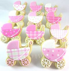 Girly Baby buggies [posting photo for inspiration only]  #DecoratedCookies #Cookies
