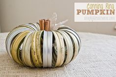 "Simply Klassic Home: My ""Junkin' Pumpkin"" {The Original Canning Jar Ring Pumpkin}"