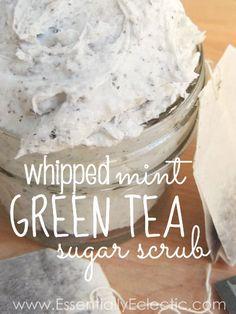 Whipped Mint Green Tea Sugar Scrub.