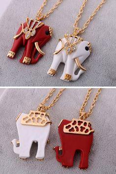 Noble Elephant Necklace OASAP.com
