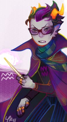 Okay. Let me just say, I'm not a HUGE fan of Eridan, but only because of his attitude. Other than that, he's pretty cool. I do love to draw him xD