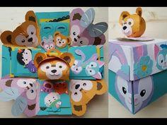 樂樂手工創意 禮物盒機關卡 7種機關+蛋糕 米奇micky系列 - YouTube Diy And Crafts, Arts And Crafts, Paper Crafts, Exploding Gift Box, Tarjetas Pop Up, Duffy The Disney Bear, Pen Pal Letters, Tsumtsum, Letter A Crafts
