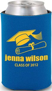 best selling 1 color graduation koozie - order and customize yours today! visit totallybeerkoozies.com