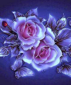 By Artist Unknown - Herz - Blumen Flowery Wallpaper, Flower Phone Wallpaper, Butterfly Wallpaper, Rose Wallpaper, Wallpaper Backgrounds, Beautiful Flowers Wallpapers, Beautiful Rose Flowers, Pretty Wallpapers, Photo Rose