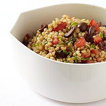 Salade de blé aux tomates et aux olives