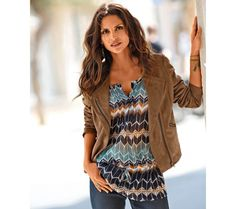 Semišová bunda   blancheporte.sk #blancheporte #blancheporteSK #blancheporte_sk  #autumn #fall #jesen #bunda Blazer, Blouse, Mini, Tops, Dresses, Women, Style, Fashion, Envy