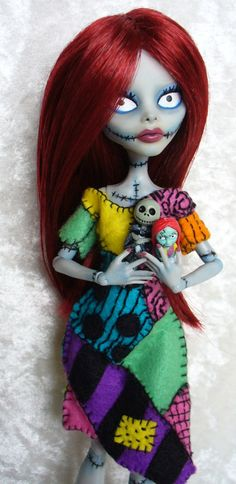 Monster High custom - Sally from Nightmare Before Christmas by redmermaidwerewolf, via Flickr