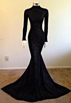 Black Prom Dresses,Mermaid Prom Dress,Sequined Prom Dress,Sequins Prom Dresses,2018 Formal Gown PD20182055