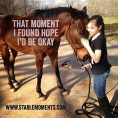 We strive to provide stable moments in the unsettled worlds of #foster and #adopted #children.  #horse #quotes #horsequotes #horsetherapy #nonprofit #adoption