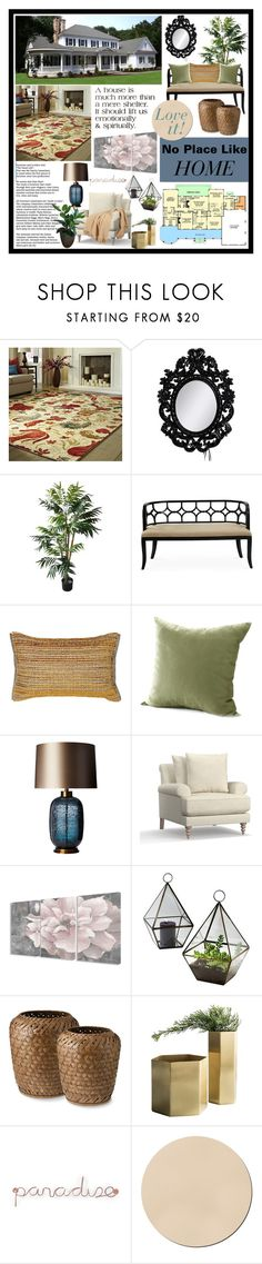 """""""NO PLACE LIKE HOME MAGAZINE SPREAD"""" by aharcaki ❤ liked on Polyvore featuring interior, interiors, interior design, home, home decor, interior decorating, Laurence Llewelyn-Bowen, Toyine Sellers, Heathfield & Co. and Pottery Barn"""