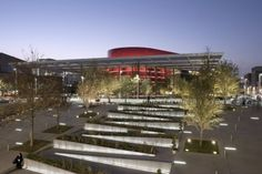 Image 1 of 41 from gallery of Winspear Opera House / Foster + Partners. Photograph by Foster + Partners Landscape And Urbanism, Urban Landscape, Park Landscape, House Landscape, Norman Foster, Cultural Architecture, Modern Architecture, Michael Jones, Visit Dallas