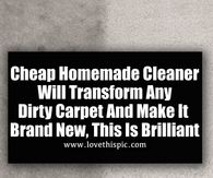 Cheap Homemade Cleaner Will Transform Any Dirty Carpet And Make It Brand New, This Is Brilliant
