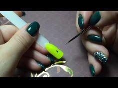 ВЕНЗЕЛЯ: техника исполнения и варианты композиции на ногтях   olesyages   NAILS - YouTube