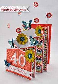Splotch Design - Jacquii McLeay Independent Stampin' Up! Demonstrator: Cascade Cards