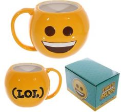 Fun Collectable Ceramic Big Smile Face Emotive Mug