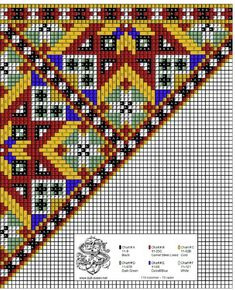 Belte til bringeklut 62 Cross Stitch Borders, Cross Stitch Charts, Cross Stitch Designs, Cross Stitch Patterns, Bead Loom Patterns, Craft Patterns, Beading Patterns, Scandinavian Embroidery, Scandinavian Art