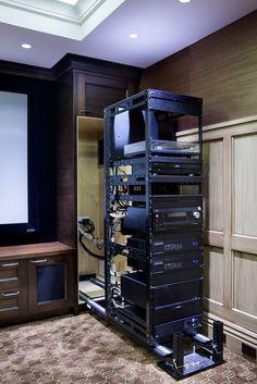 Home theaters hacks Mayfair_Lower_Te - hometheaters Home Theater Basement, Home Theater Room Design, Home Cinema Room, Home Theater Setup, Home Theater Rooms, Mayfair, Smart Home Design, Home Theater Installation, Server Room