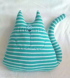 Kot turkusowy maskotki cat corporation kotek poduszka prezent