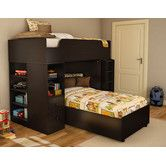 Found it at Wayfair - Logik Twin over Twin L-Shaped Bunk Bed with Desk
