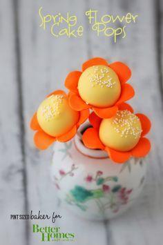 Pint Sized Baker: Flower Cake Pops