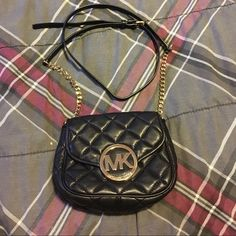 MK Quilted Fulton Small Cross Body Gently used MK quilted cross body bag. No stains, rips scratches or tears. Purchased at Macy's. Selling because it is too small for me & my phone. Would love to keep it but need to upgrade to something a little bigger Michael Kors Bags Crossbody Bags