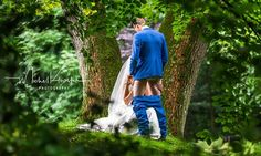 At first glance, this wedding photo of a newly-married couple in the Netherlands seems to show the pair lacking both patience and fear of discovery.