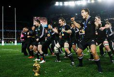www.nzallblacks.net  All Blacks 2011 Rugby World Cup Champions perform a haka #rugby #rwc #haka #allblacks