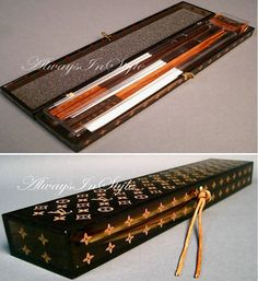 Louis Vuitton chopsticks....this has to be THE ONLY thing that can make sushi any better!! : )