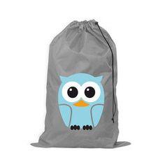 Buy Kikkerland Owl Laundry Bag Online - LB04-B Gray Draw String