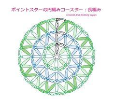 ポイントスターの円編みコースター:長編み【かぎ針編み】How to Crochet Point Star Coaster https://youtu.be/mO6JC7ua2xw 長編みのポイントスター模様を、円編みのコースターにしました。 長編み2目の玉編みで、ポイントスターを作ります。 ★編み図はこちらをご覧ください。