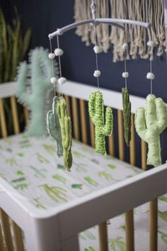 Cactus Mobile - Project Nursery You are in the right place about boy nurseries mint Here we offer you the most beautiful pictures about the baby boy nurseries you are looking for. When you examine the Baby Nursery Decor, Project Nursery, Nursery Design, Nursery Neutral, Nursery Themes, Baby Decor, Nursery Room, Nursery Wall Art, Girl Nursery