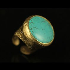 Antique Style Ring Turquoise now featured on Fab.