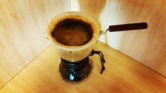 I've been using my @hario_japan #woodneck for a bit over 2 weeks now and am starting to really appreciate the extra time a good cup of coffee takes to make... Still need to work on my consistency but enjoy the experimentation with grind and water... Rock on! #pourovercoffee #specialtycoffee #hario #manualbrewonly #manmakecoffee http://ift.tt/20b7VYo