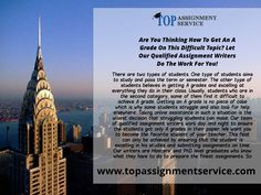 Top Assignment Service in USA is now provided by TOpAssignmentservice.com  #TOpAssignmentService #TopAssignment #AssignmentWriting   Visit : https://www.topassignmentservice.com