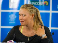Maria Sharapova at the 2015 Brisbane press conference where a media person asked her about her Davis Cup (!) duties http://www.womenstennisblog.com/2015/01/03/top-players-prepare-brisbane-gallery/