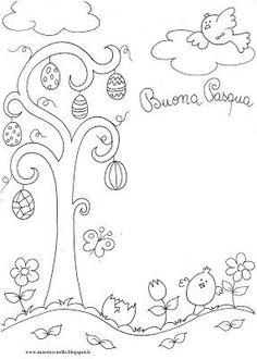 Pasqua-Disegni da colorare
