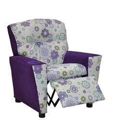 Another great find on #zulily! Purple Floral Recliner #zulilyfinds