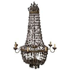 Ornate Chandelier | From a unique collection of antique and modern chandeliers and pendants at https://www.1stdibs.com/furniture/lighting/chandeliers-pendant-lights/