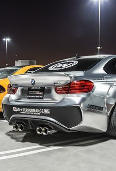 M4. LB Performance. Bmw M4 by LB Performance. a little to tricked out for me, but like the silver and black with dual flow exhaust. #MPower