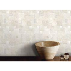 Anatolia Tile Chiaro Filled And Honed Natural Stone Mosaic Versailles Wall Common