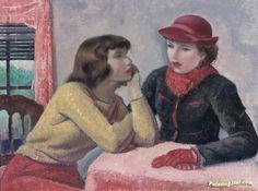 Study for conversation Artwork by Leon Kroll Hand-painted and Art Prints on canvas for sale,you can custom the size and frame